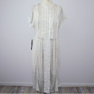 NWT Topshop White Collared Dress Worth $230!
